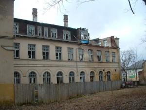 Der Ostflügel des Krankehauses zum alten Elvi fotografiert.